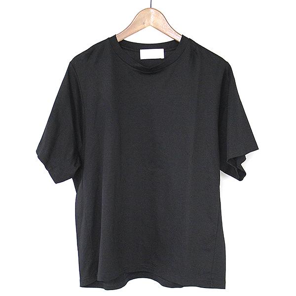 【中古】mame kurogouchi マメ クロゴウチ 16SS Big T-Shirt ビッグTシャツ レディース ブラック 2