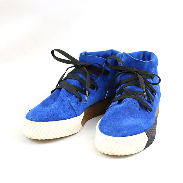 【中古】adidas Originals × Alexander Wang アディダス オリジナルス × アレキサンダーワン AW SKATE MID スニーカー レディース ブルー 24cm