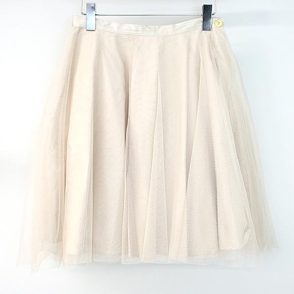 【中古】Chloe クロエ メッシュレイヤードスカート レディース ベージュ 14