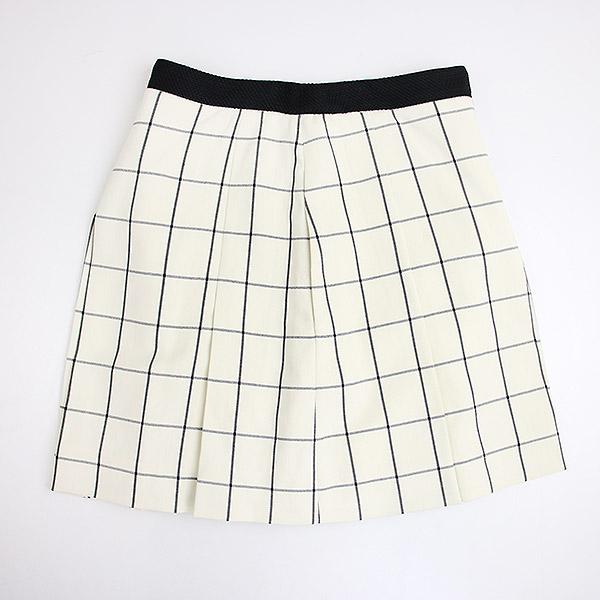 【中古】PROENZA SCHOULER プロエンザスクーラー ウィンドウペンスカート パンツ レディース ホワイト 0