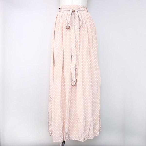 【中古】THE NEWHOUSE ザ ニューハウス 18SS GYPSET RUCKLE スカート ピンク S レディース