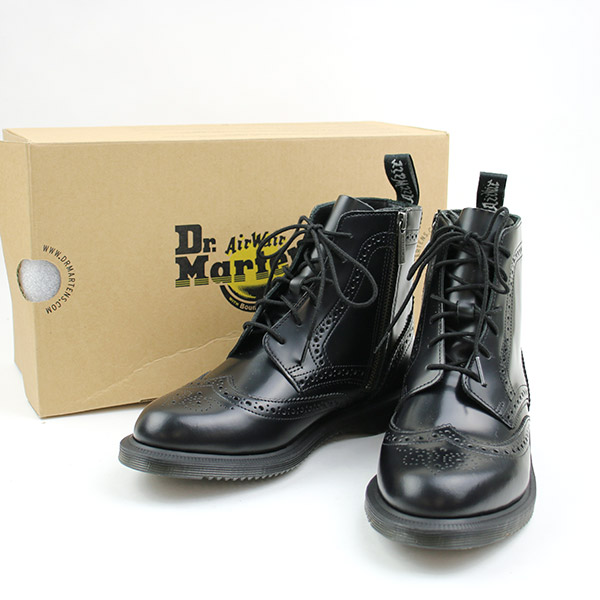 0e6cad24a59 Dr.Martens doctor Martin 17AW KENSINGTON DELPHINE 6EYE BROGUE BOOT side zip  leather boots black UK5 (around 24cm) Lady's