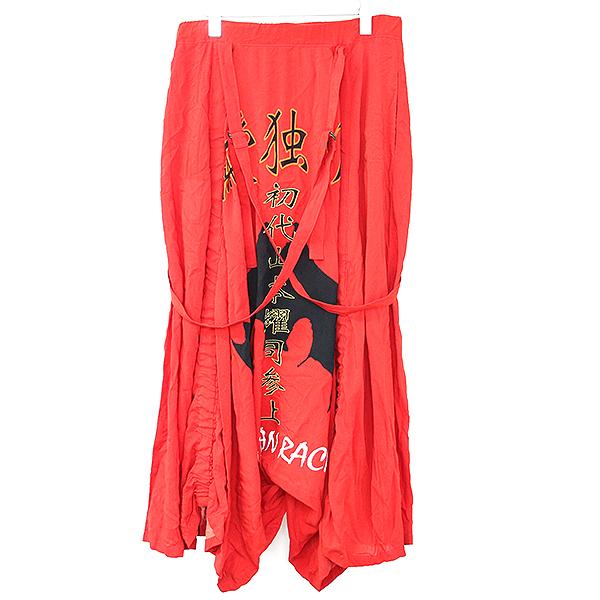 【中古】B Yohji Yamamoto ビー ヨウジヤマモト 19SS 純愛 Suspender Pants サスペンダーパンツ レッド 3 レディース