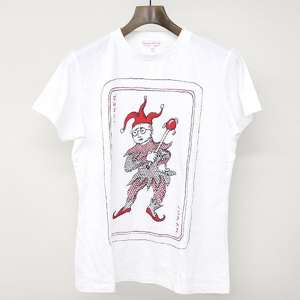 【中古】Olympia Le-Tan オランピアルタン トランププリントTシャツ ホワイト 38 レディース