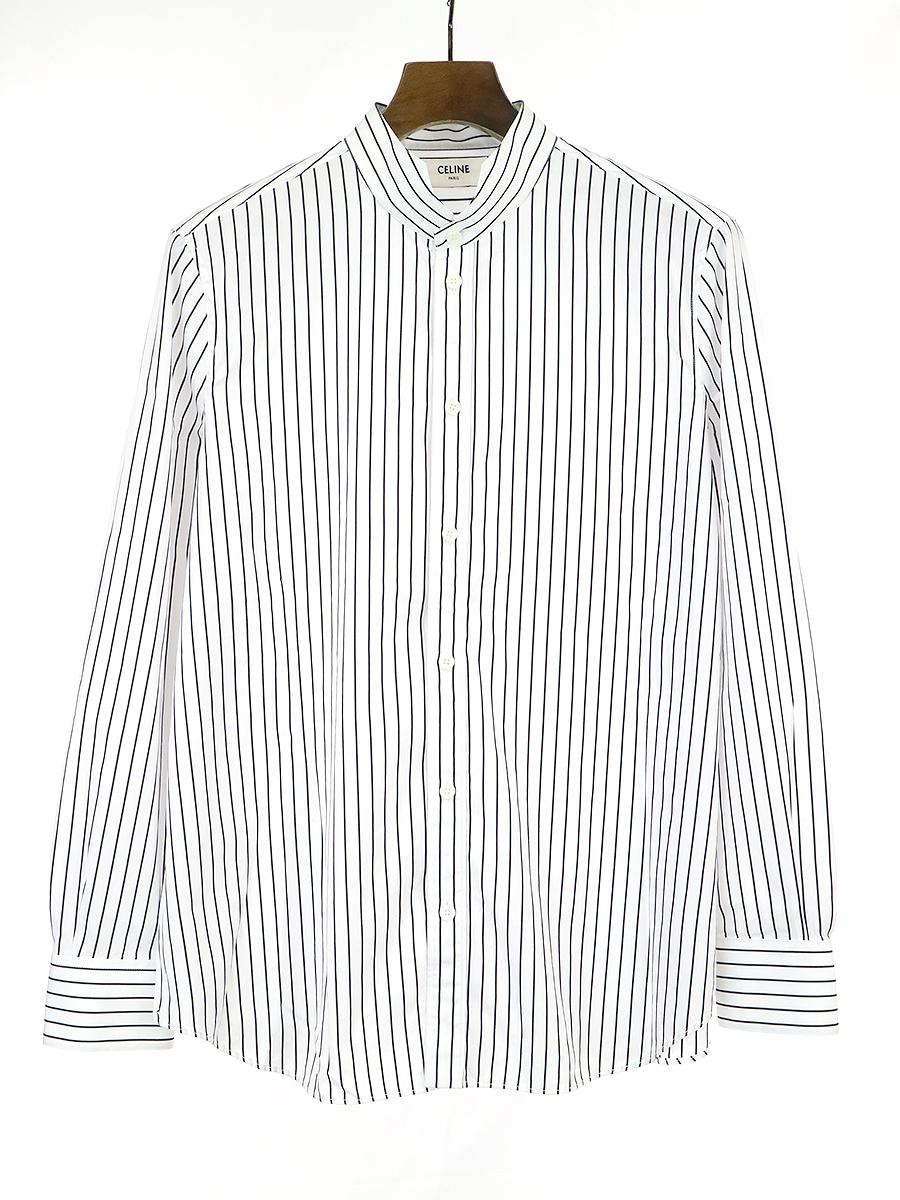 【中古】CELINE セリーヌ 19SS パレスカラークラシックポプリンシャツ ホワイト 44 レディース