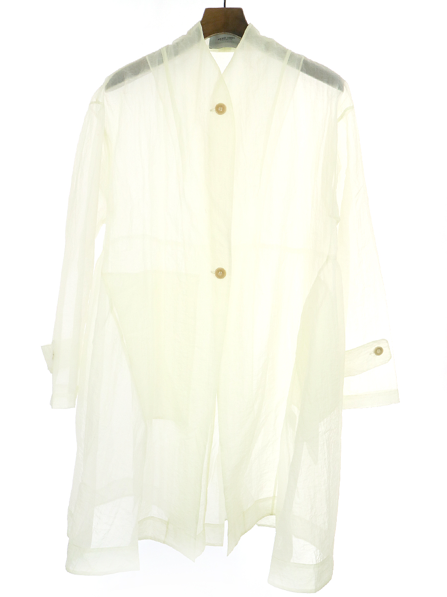 【中古】Rachel Comey レイチェルコーミー シースルーオーバーサイズコート アイボリー XS レディース