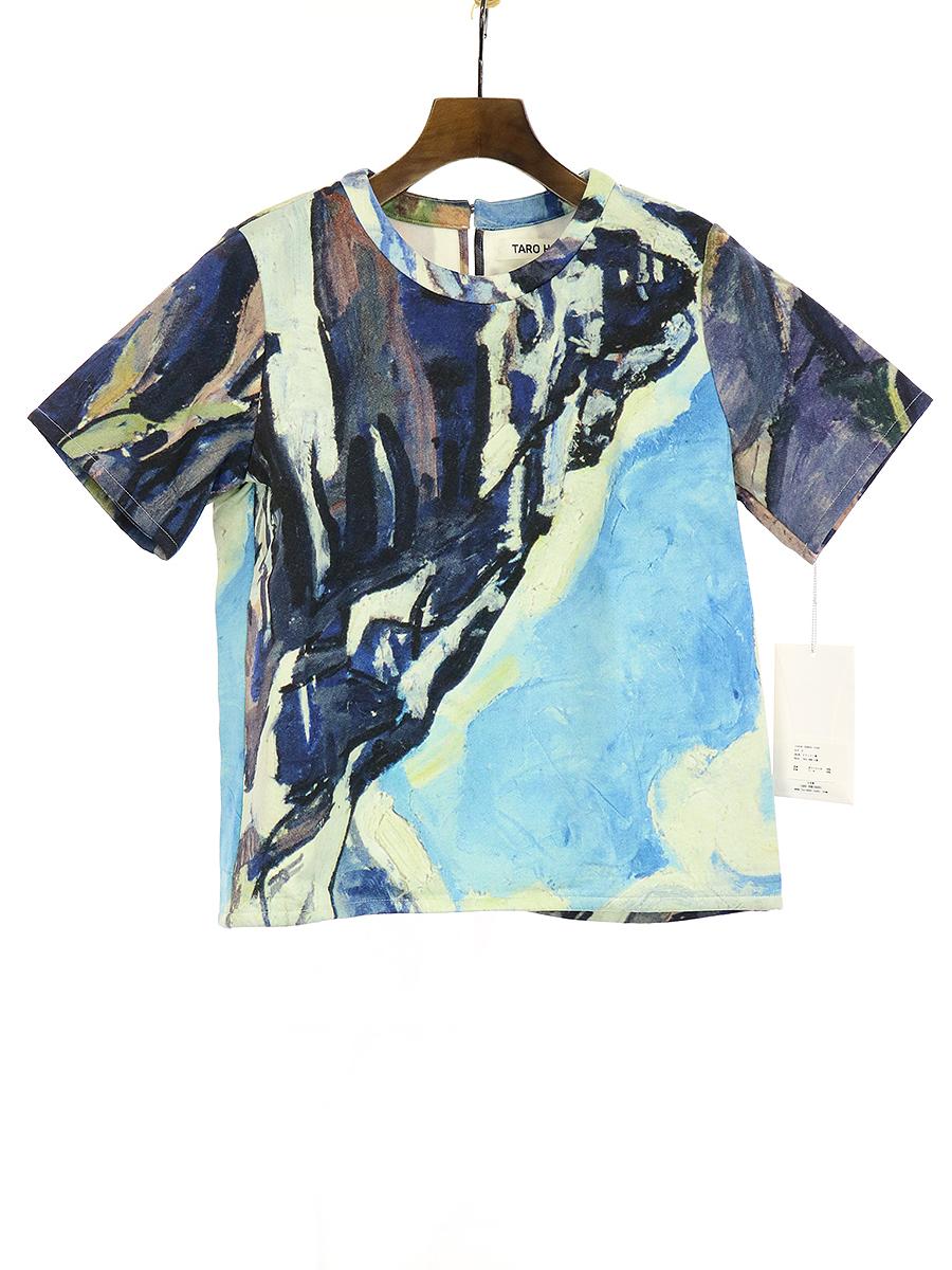 【中古】TARO HORIUCHI タロウ ホリウチ 15AW マウンテン柄ネオプレンTシャツ マルチカラー 2 レディース