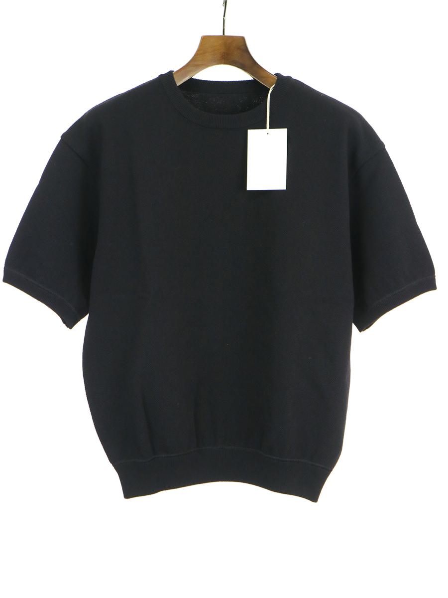 【中古】crepuscule クレプスキュール S/S knit ニットTシャツ ブラック F レディース