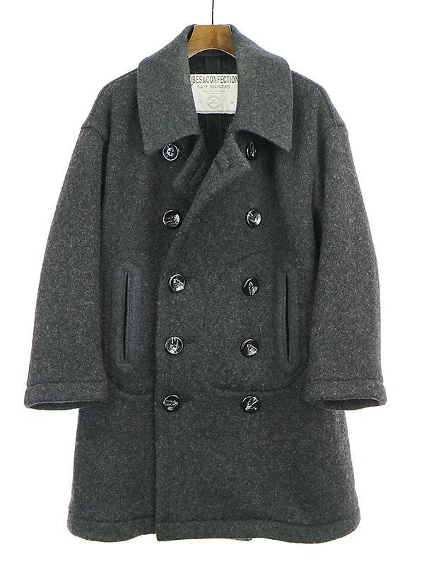 【中古】Robes & Confections ローブスアンドコンフェクションズ ウールナイロンPコート グレー 1 レディース