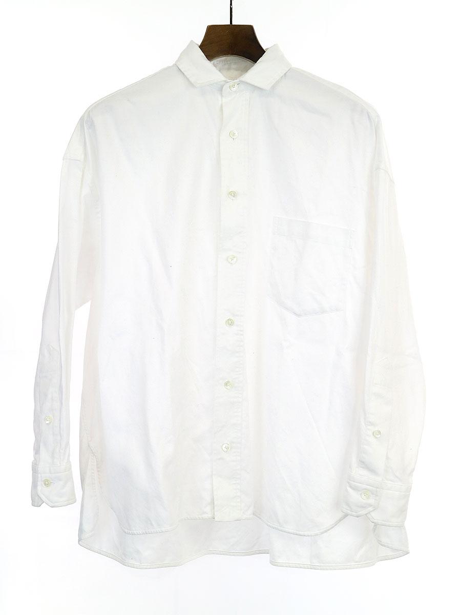 【中古】TICCA ティッカ コットンシャツ ホワイト サイズ表記無し レディース