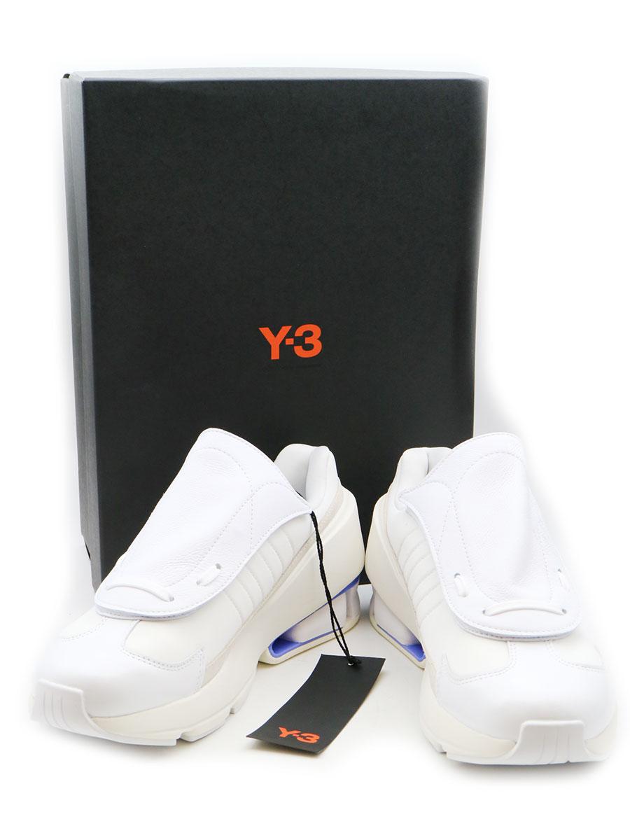 【中古】Y-3 ワイスリー SUKUI レザースニーカー ホワイト 25cm レディース