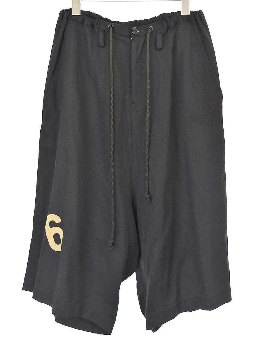 中古 チープ Y's ワイズ 19AW 1 ブラック ショップ ナンバリングイージーウールショートパンツ レディース