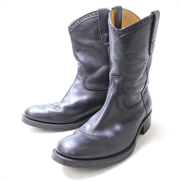 foot the coacher(フットザコーチャー) レザーペコスブーツ ブラック 8 b【中古】