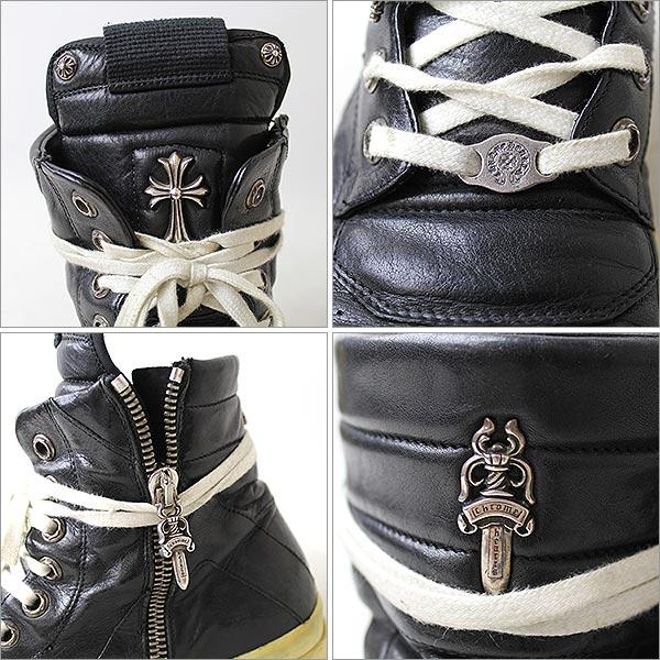 瑞克 · 欧文斯 (Rick Owens) x 铬心/Geobasket 运动鞋和运动鞋皮革黑 4402P07Nov15