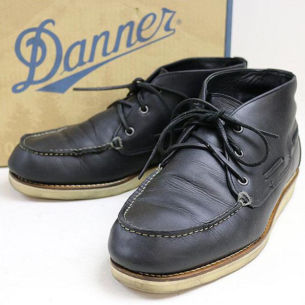 DANNER(ダナー) ×SOPHNETカーフレザーブーツ ブラック 9.5(27.5cm程度)【中古】