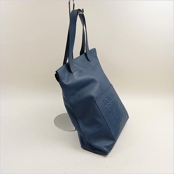 LOEWE Loewe 15SS Shopper Bag/标识凸形花纹皮革大手提包蓝色