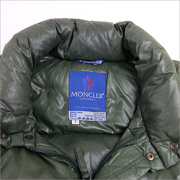 MONCLER GRENOBLE monk railgrenauble blue tag nylon down jacket khaki 3 (level L)