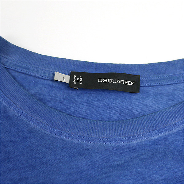 DSQUARED2 dsquared 10 AW HOCKEY print long sleeve t-shirt blue L