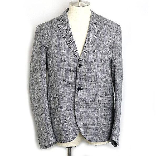 YANTOR ヤントル 15SS Linen Check Tailored Jacket グレー 【中古】