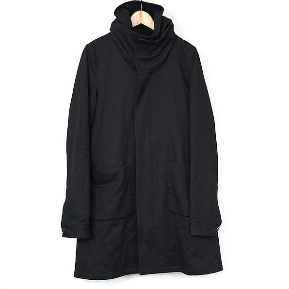 Sise シセ 10SS フーデッドコットンハイネックコート ブラック 1【中古】