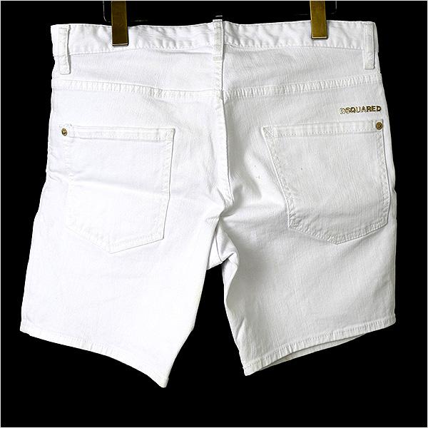 DSQUARED2 disukueado 13ss伸展粗斜纹布短裤白48
