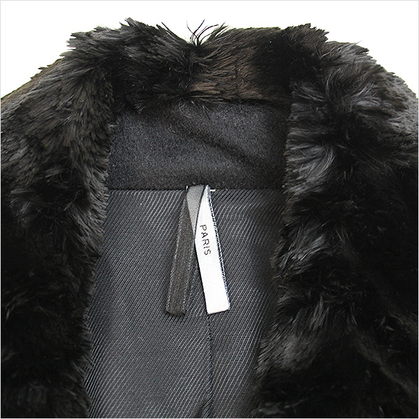 Dior HOMME ディオールオム 13AW ボアショールカラーカシミヤPコート ブラック 468nNvwm0