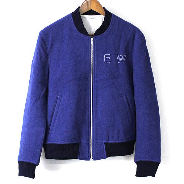 DIGAWEL ディガウェル 15AW EW BLOUSON/刺繍ウールメルトンブルゾン ブルー 2【中古】