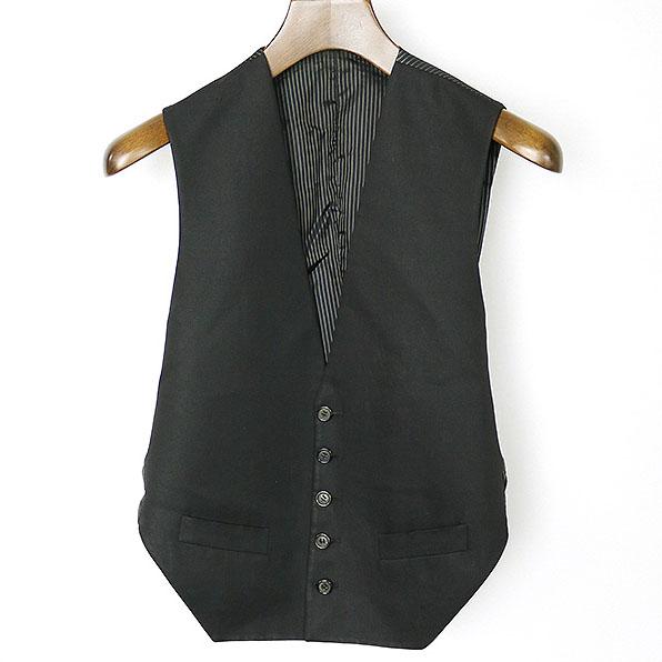 Dior HOMME ディオールオム 04SS オープンバック5Bジレ ブラック 44【中古】