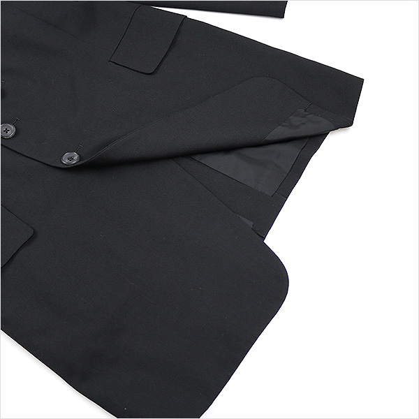 司设计山本倒洪姆 youjiyamamotopoolom 11 AW woolgabazindouble 排扣夹克黑色 3