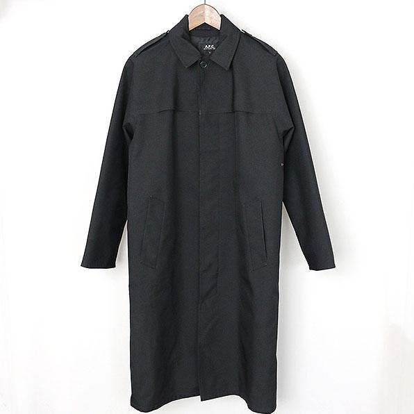 A.P.C アーペーセー 撥水加工ステンカラーコート ブラック S【中古】