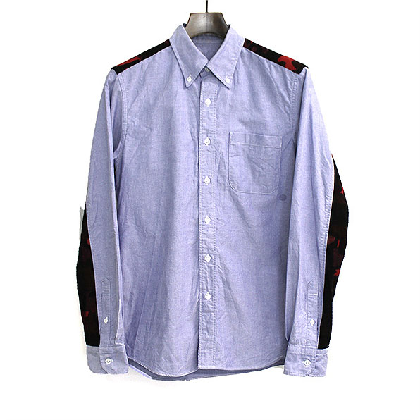 SOPHNET. ソフネット 15AW CAMOUFLAGE FLANNEL PANEL B.D SHIRT ブルー S【中古】