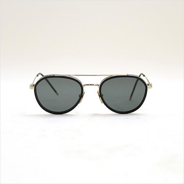 2a1db455fbe1 THOM BROWNE Tom Browne TB-801-A-GLD-BLK-51 teardrop two bridge sunglasses  gold 51 □ 20 141