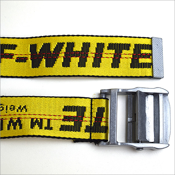 OFF-WHITE灰白16AW TIE DOWN INDUSTRIAL BELT泰国降低工业皮带黄色
