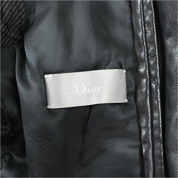 Dior HOMME dioruomu 06AW 4口袋皮夹克黑色46