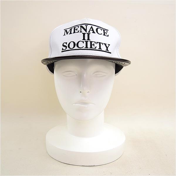 2ea7292db49 Supreme シュプリーム 14SS Supreme Menace Leather 5-Panel Cap Menace II Society  leather cap white