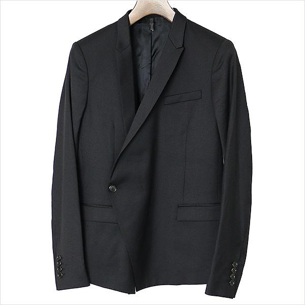 Dior HOMME ディオールオム 09AW カシミヤ混ピークドナローラペル1Bジャケット ブラック 44【中古】