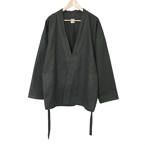 GREI. グレイ ノーカラーデザインコットンジャケット ブラック 3【中古】