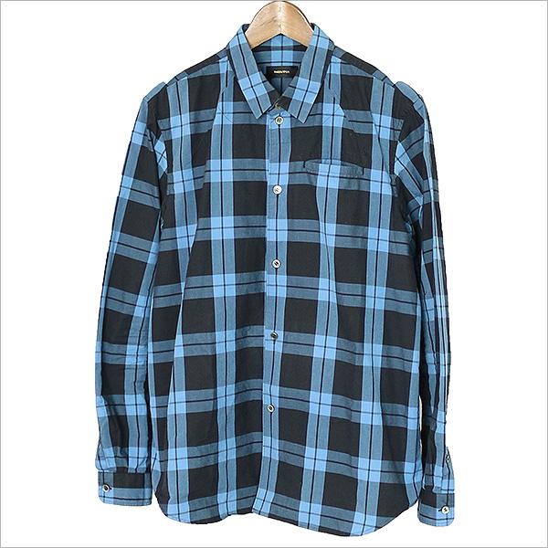 UNDER COVER アンダーカバー 15SS バックPダーツ刺繍長袖シャツ ブルー 2【中古】