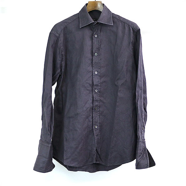 GUCCI グッチ セール品 シャンブレーシャツ おすすめ 中古 パープル S