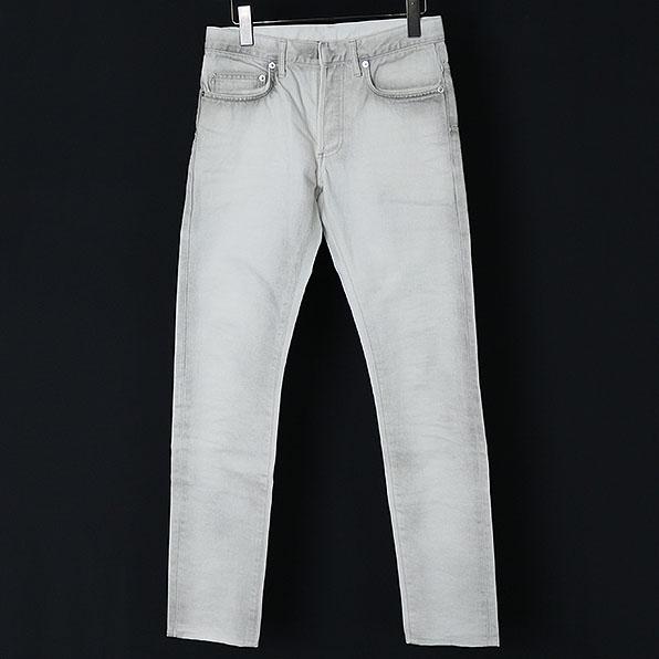 Dior HOMME ディオールオム 14AW 汚れ加工スリムデニムパンツ ホワイト 28【中古】