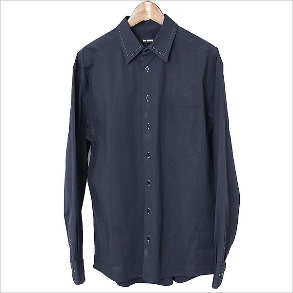 RAF SIMONS ラフシモンズ 16AW Big shirt ビッグシルエットシャツ ネイビー 44【中古】