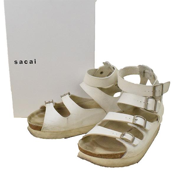 sacai サカイ 15SS グラディエーターサンダル ホワイト 42(27cm程度)【中古】