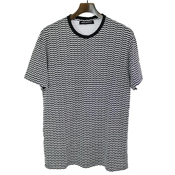 NEIL BARRETT ニールバレット 16SS 総柄プリントTシャツ ブラック L【中古】
