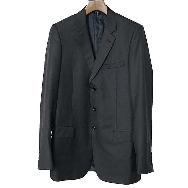 Dior HOMME ディオールオム ノッチドラペル3Bテーラードジャケット ブラック 48【中古】