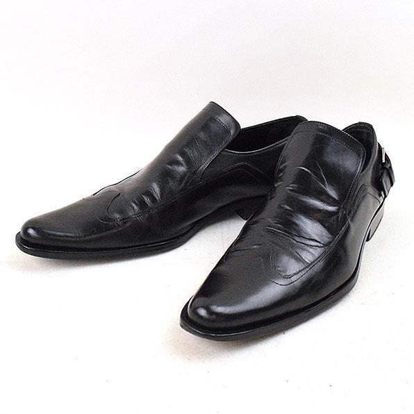 Dior HOMME ディオールオム 04AW アンクルベルトウイングチップローファー ブラック 40(25cm程度)【中古】