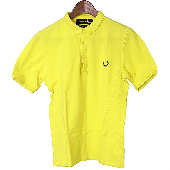 4d5c08c6 RAF SIMONS rough Simmons X FRED PERRY/ one point polo shirt yellow S ...