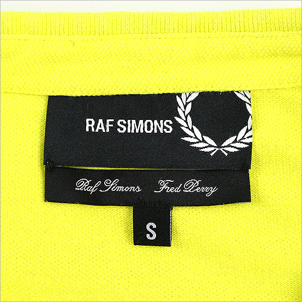bcd27290 ... RAF SIMONS rough Simmons X FRED PERRY/ one point polo shirt yellow S ...