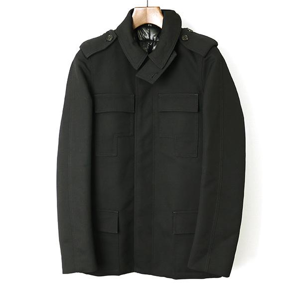 Dior HOMME ディオールオム 07AW 中綿サファリジャケット ブラック 44【中古】