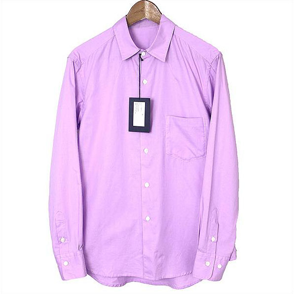 URU ウル 17SS コットンプレーンシャツ ラベンダー 1【中古】