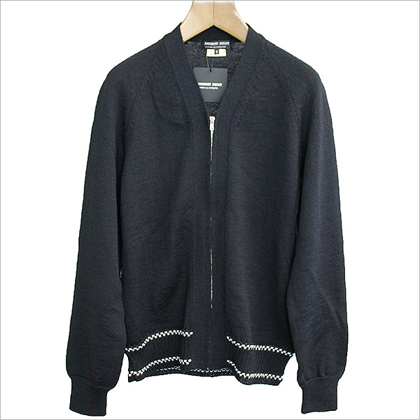COMME des GARCONS HOMME DEUX コムデギャルソンオムドゥ 17AW 裾デザインジップカーディガン ブラック M【中古】